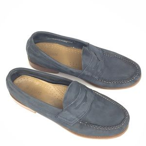 Bass Weejuns Blue Suede Penny Loafer - size 7